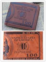 1pc/lot Men Pockets Card US Dollar Bill Money Wallet Funny Foldable PU Dollar Wallet 2 Colors EJ870627