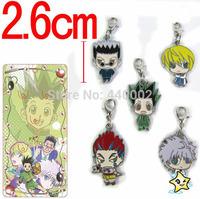 100sets Hot Sales Anime Hunter X Hunter Metal Figure Keychains Bag Pendants 5pcs/set