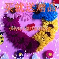 whole sales,Cartoon decoration wall sticker multi-colored sunflower,4pc/set