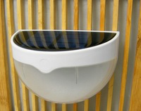 Outdoor Solar Powered 6X LED Light Fence Roof Gutter Garden Yard Wall Lamp