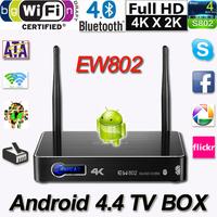2014 Eweat EW802 Android 4.4 TV Box Quad Core Bluetooth 4.0 Mali450 GPU 2G/16GB Wifi SATA Support 4K XBMC Miracast Airplay DLNA