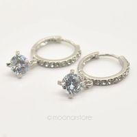 Luxury White Gold Plated Crystal Drop Earrings, Fashion Austrian Zircon Rhinestone Dangle Earrings, Fashion Jewelry Y50 MHM304
