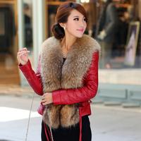 Genuine leather down coat genuine leather clothing short design raccoon fur sheepskin leather clothing female