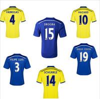 Chelsea 2015 Jersey HAZARD TORRES OSCAR DROGBA LAMPARD 14 15 Chelsea Soccer Jerseys Home Blue 2rd Away Football Shirt Uniform