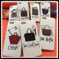 1pc Cheap Price Brand Designer Logo Given Just cavallis Handbag Bag Purse TPU Back Case Cover For Iphone 4 4s 5 5s