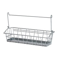 1 piece Pigmented epoxy powder coating steel kitchen storage wire basket