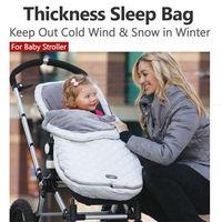 2015 New Sleep Bag Cotton Sleeping Sack Bag Baby Stroller Cart Outdoor Keep Out Wind Snow Keep Warm Winter Waterproof