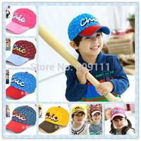 New Kids Embroidery Baseball cap Infant Cute Cotton Hat Child Fall Caps Sun Hats Boys Girls Accessories Free Shippnig 1pc H547