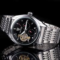 new 2014 military full steel brand automatic self-wind relogios masculino watch mechanical fashion luxury watch tourbillon clock