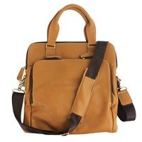 genuine leather briefcase laptop bag leather shoulder bag men's bag for documents Black and Brown