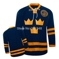Team SWEDEN Ice Blank Hockey Jerseys