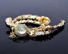 TGJW639 women's fashion watch quartz alloy chain natural shell wristwatch diamond luxury watch(China (Mainland))