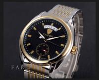 new 2014 military full steel brand automatic self-wind relogios masculino watch mechanical fashion luxury watches calendar clock