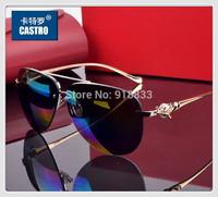 2014 Luxury Golden Fox Brand Design Unisex Polarized Sunglasses Men's Driving Eyewear Women Party Glasses Male Leopard Gift Box