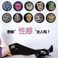 2014 fall fashion Korea combed cotton sexy Anti-pilling knitted thicken flag logo women's stirrup socks leg warmers