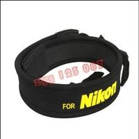Yellow Neoprene Camera Neck shoulde rStrap for Nikon F60 F70 F80D F90X D100 D300 D1 D2