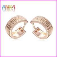 2014 Hot Sale Sale Trendy Women Earrings For Women Pendientes Brinco Daily Wear Square-cut Cz Inlaid Small Earrings #108402