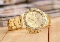 Brand quartz women luxury watches top quality women rhinestone gold crystal watches lady dress watch