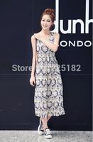2014 New! Summer cool and comfortable bourette dress  longuette