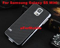 Carbon Fiber Case Leather Case Back Cover Hard Case  for Samsung Galaxy S5 MINI SM-G800