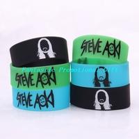 5 pcs/set, free shipping/ STEVE AOKI / Silicone bracelet/1 inch Silicone wrist band/ BRACELET/ mix order welcome