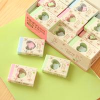 Free shipping 1lot=36pcs/korean stationery kawaii Creative love eraser Sweet clover cartoon rubber school supplies