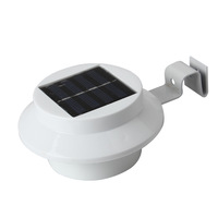 White 3 LED Solar Light Outdoor Fence Gutter Garden Wall Lobby Pathway Lamp Hot Selling