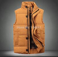 2014 winter business casual men's vest, high-grade men down cotton-padded jacket, increasing thermal underwear down jacket  coat
