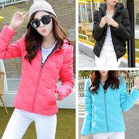 Winter Parka Womens Slim Short Solid Color Hooded Coat Women Duck Down Jacket Jaqueta Feminina Free Shipping WWM329