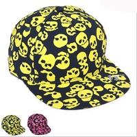 New style Children Fall Baseball Hats Little Boys Girls Skull Printed Hip-hop style Baseball Caps 3-8Y Free Shipping 1pc H553