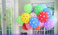 free shipping 100pcs/lot  12inch wedding decorations marry marriage room decoration ballon mix color Helium Polka Dot balloons