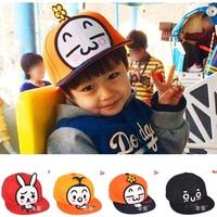 Little boys girls baseball cap Children cartoon hat Flat -brimmed cartoon family Baseball Caps Infant Accessories 1pc H554