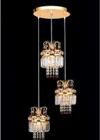 2014 Modern Crystal Lamp / K9 Crystal Restaurant Lights LED Lights /  Round  Chandelier 3 Heads Dining-room Chandeliers ds-076