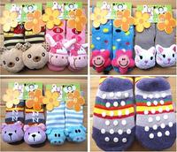 2 pairs/lot Baby Anti-slip Walking Socks baby sock Indoor shoes infant sock Newborn children sock free shipping