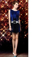 Free shipping hot selling sexy sequined fantasia clubwear DS dancing dress erotic sexy dress for women CXWC-1106
