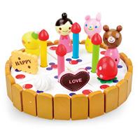 2014 new funny Mother garden chocolate birthday cake child wood toy Kitchen Toys