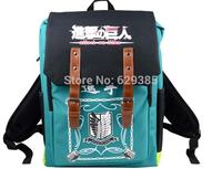 2014 5 Color Attack on Titan casual shoulder bag / Backpack / Dual-use backpack Shoulders Messenger laptop Computer  school bag