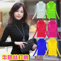 2014 Women's Spring autumn Long-sleeve T-shirt Basic Shirt Ladies Fashion T-shirt Plus Size S-XXXL