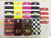 Wholesale Luxury MK Case Michael Korss Stripes Leopard Gold Logo Hard Back Case Cover For Samsung Galaxy S4 I9500 Free Shipping