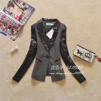 J8809 2014 Autumn new Women's PU blazer Lady Blazers brand new  feminino Women's Suit blaser blazer for women female outwear