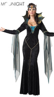 Witch Halloween Costumes Sexy for Women Witch Gown Cheaper price cosplay witch for girls Free Shipping Drop Shipping