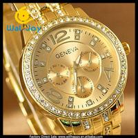 50/lot high quality stainless steel geneva quartz watch men (WJ-1668)