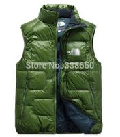 Fleece outdoor down vest down vest male autumn and winter duck down waistcoat plus size vest