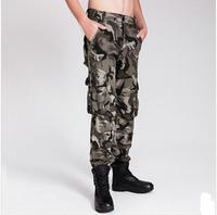 Size S-XL Colors 7 Men Pants Cargo Camouflage Casual Male Pant Multi Pocket Military Jeans For Men Clothes Men's Juniors AX727