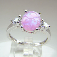 man Fashion Jewelry Pink Opal Ring 2014 wholesale gold plated jewelry DR301403061R Free Shipping