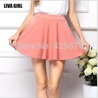 Women soft chiffon Short skirt Fashion Hight Elastic Waist pleated Short Skirts lady high quality  chiffon Skirt 63