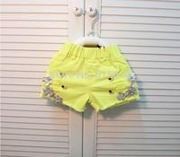 wholesale High quality,2014 New Summer 2-7yrs girl sequin flower shorts,hot summer children kids shorts