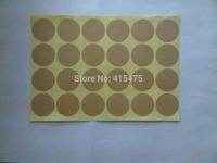 600pcs round blank sticker kraft  paper label adhesive labels envelope seals food label bakery cookie stickers printing