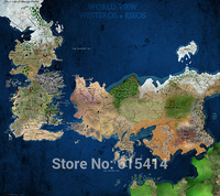 """011 Game Of Thrones - GOT MAP  Winter is Coming Season 3 Hot TV Show 15""""x14"""" Poster"""