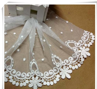 2014 NEW ARRIVAL 30yards/lot,12cm  Embroidery Lace tape trim flower for Clothes DIY garment accessory